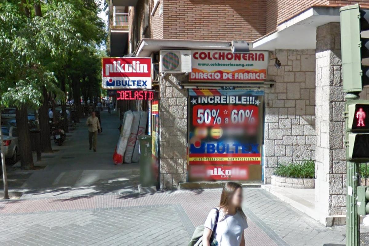 Tienda de colchones en Madrid (Foto: GOOGLE STREET VIEW).