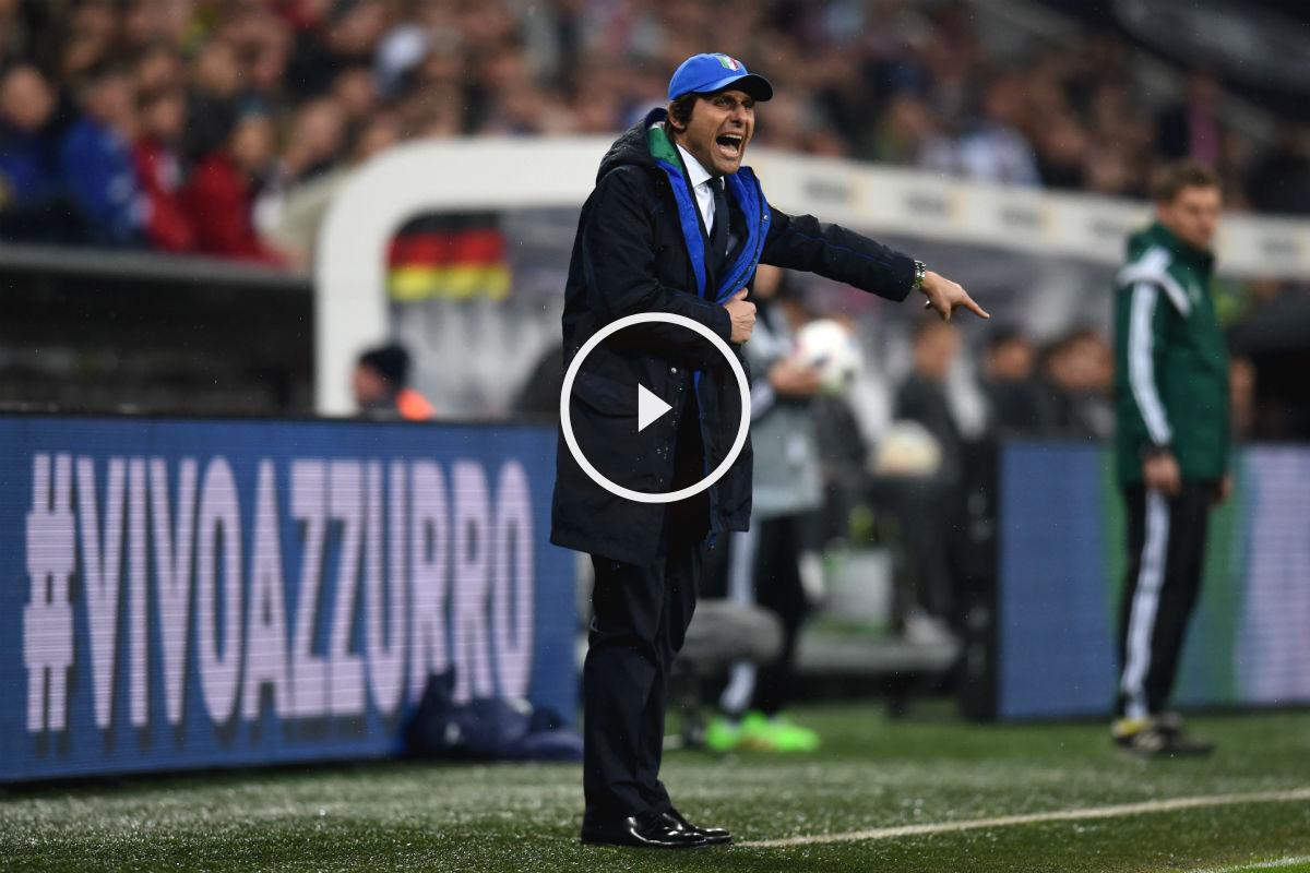 Antonio Conte, en el Italia-España. (Getty)