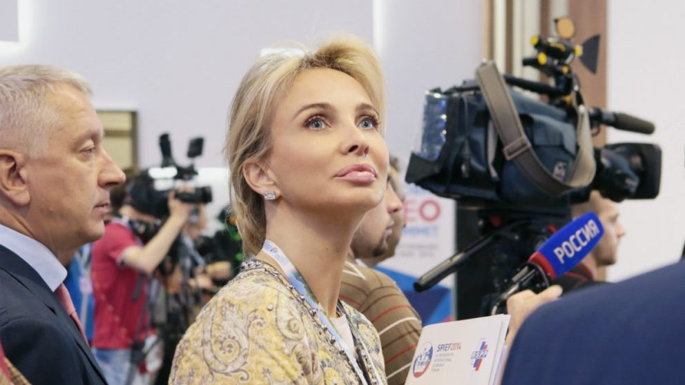 Corinna Zu Sayn Wittgenstein, en un foro empresarial en San Petersburgo. (Getty)