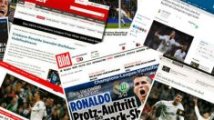 Cristiano Ronaldo, protagonista de la prensa internacional.