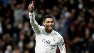 Cristiano Ronaldo celebra un gol en la Champions League. (Getty)