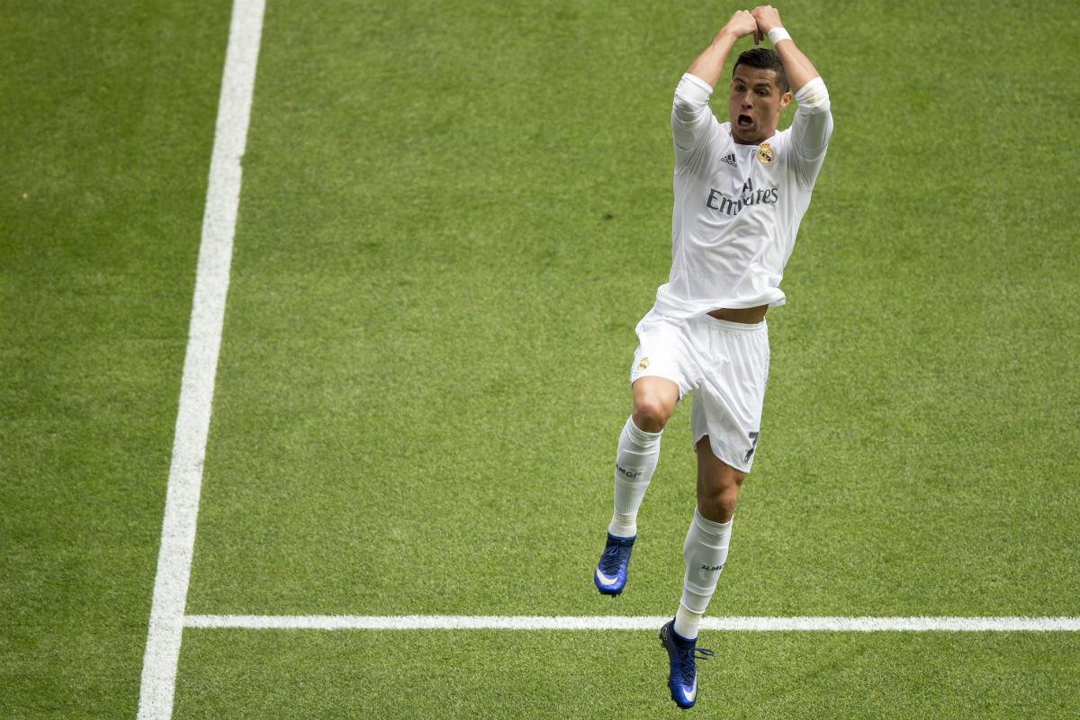 Cristiano Ronaldo celebra el tercer gol el Real Madrid al Eibar. (Getty)