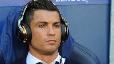 Cristiano Ronaldo, antes del partido contra el City. (Getty)