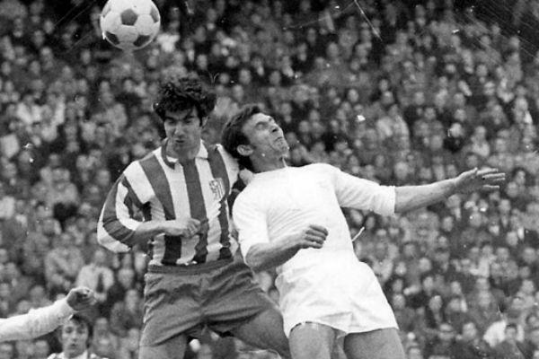 De Felipe, en un derbi contra el Atlético. (Imagen: realmadrid.com)