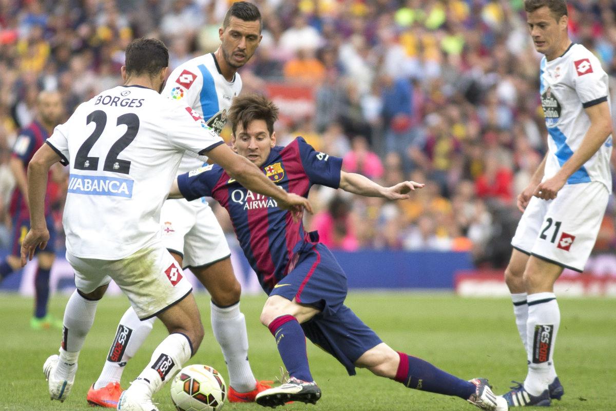 El Deportivo se salvó en el Camp Nou en 2015. (Getty)