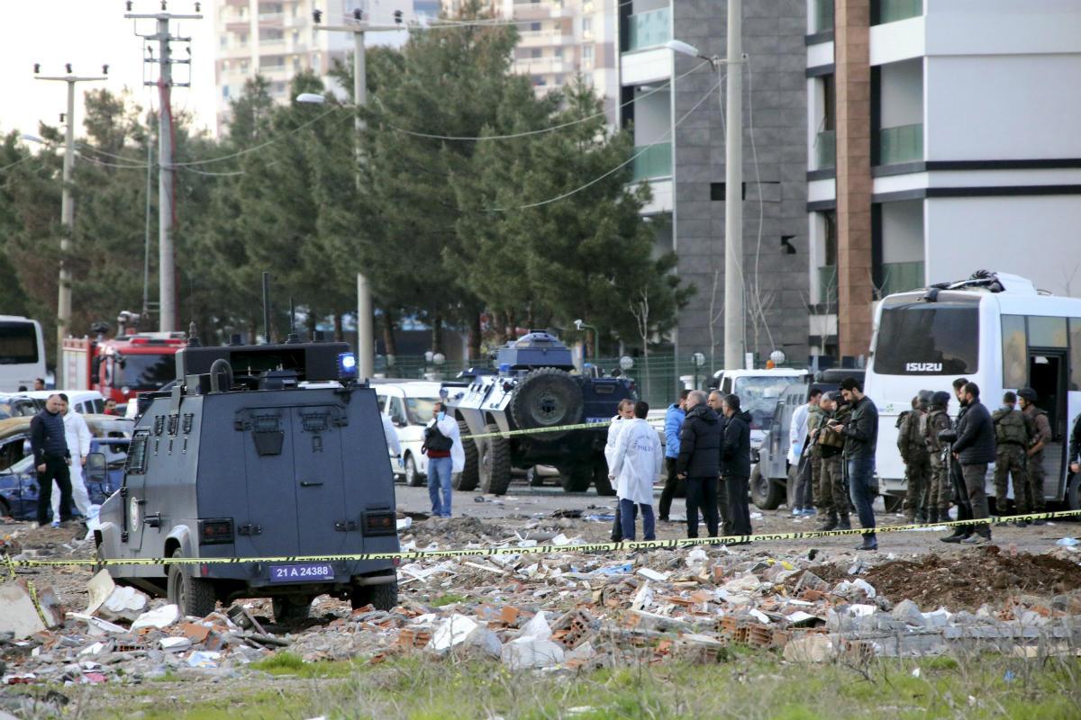 Escenario del atentado del pasado jueves en Diyarbakir, Kurdistán tueco. (Reuters)