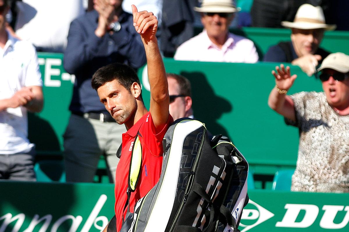 Djokovic se despide de Montecarlo tras caer ante Vesely. (Reuters)