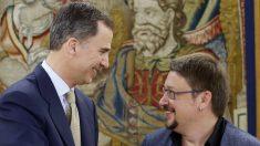 Felipe VI y Xavier Domènech, en Zarzuela. (EFE)