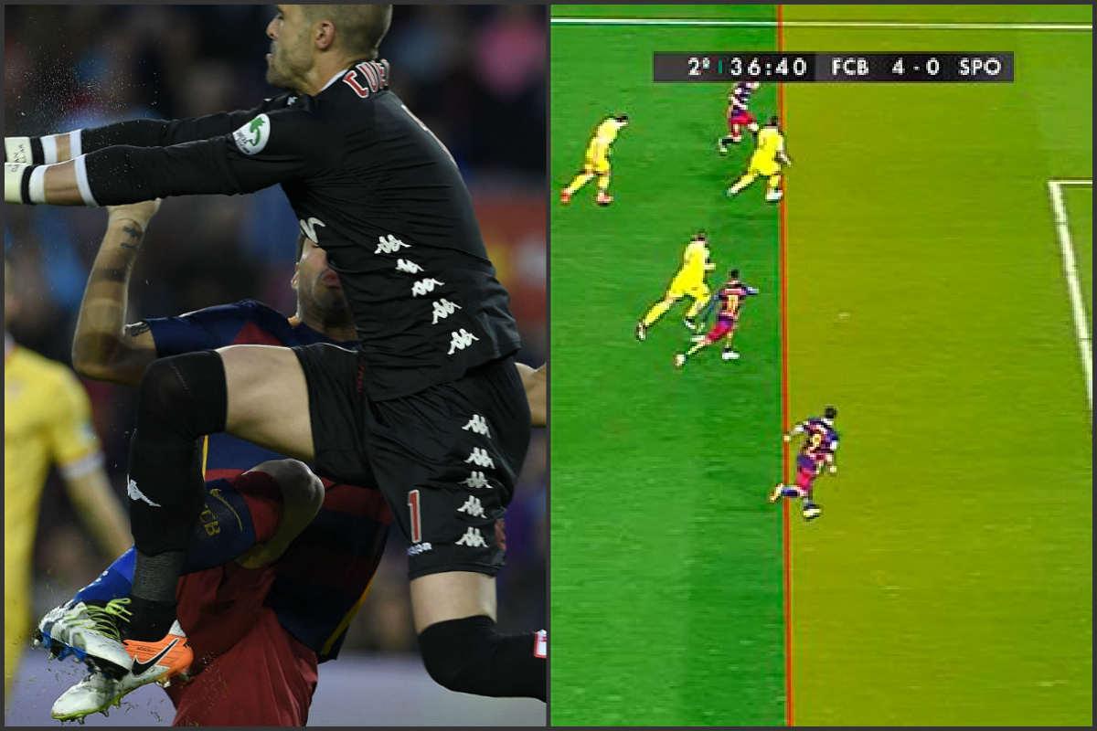 Al Barcelona le concedieron dos goles ilegales.