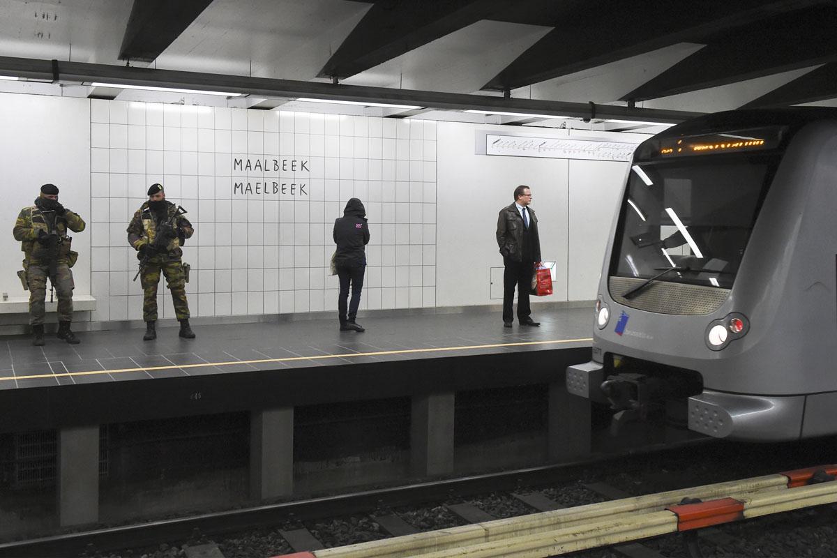 Estación de Maelbeek en su reapertura. (Foto: AFP)
