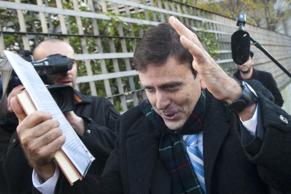 Eufemiano Fuentes, a la salida del juicio de la Operación Puerto. (AFP)