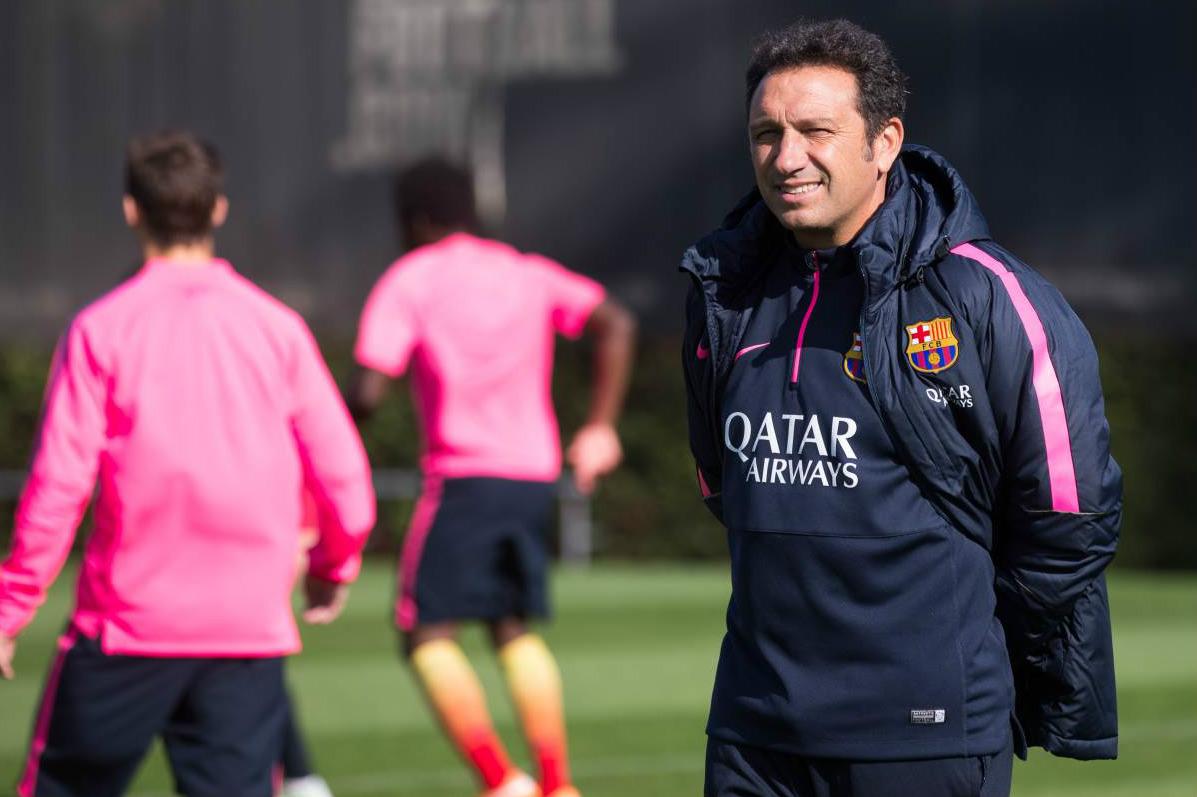 Eusebio, técnico en la actualidad de la Real, dirigió al filial del Barcelona hace poco tiempo. (AFP)
