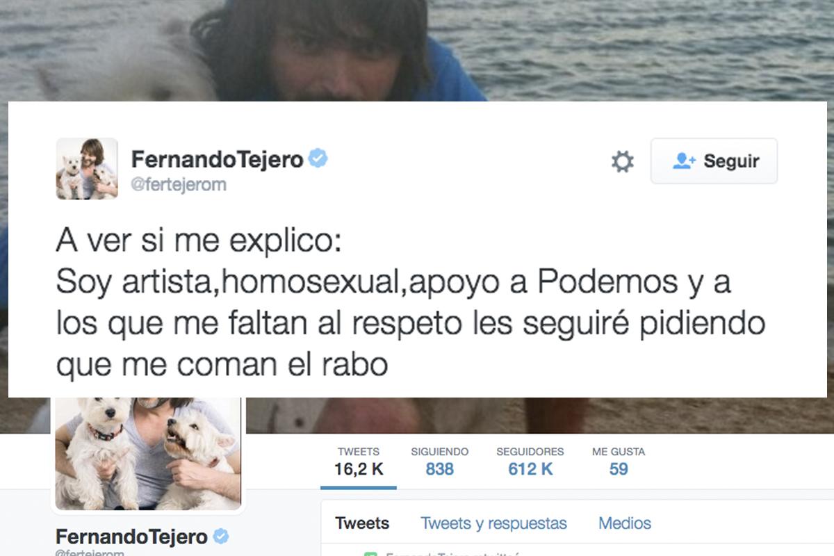El tuit que ha hecho TT a Fernando Tejero. (Foto: @fertejerom)