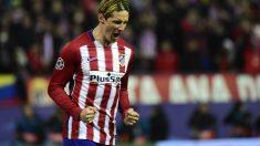 Fernando Torres durante el partido de Champions frente al PSV. (AFP)