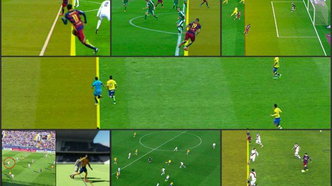 Los rbitros han concedido al barcelona ocho goles for Fuera de juego futbol