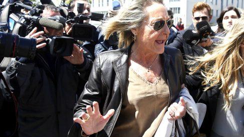 Carmen García-Fuster a su salida del juzgado. (Foto: Efe)