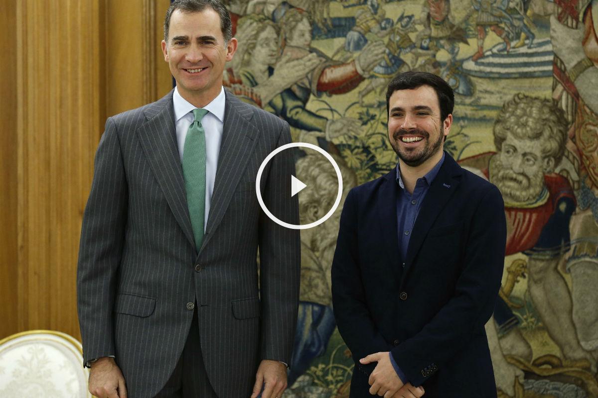 El Rey Felipe VI y el líder de Unidad Popular-IU, Alberto Garzón. (Foto:EFE)