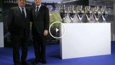 Paco Gento posa junto a Florentino Pérez. (EFE)