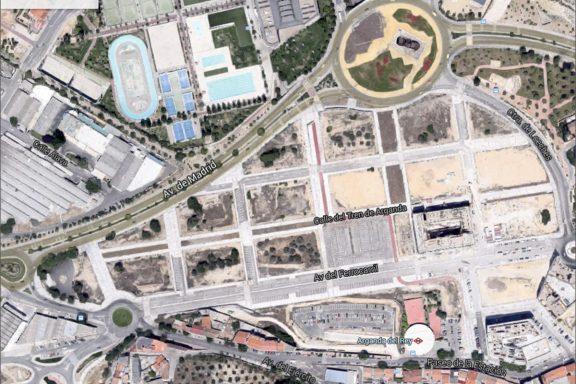 Plano actual de la parcela UE-124 de Arganda (Imagen: GMAPS)