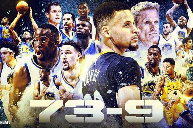 Los Warriors de Curry batieron el récord de los Bulls de Jordan. (NBATV)