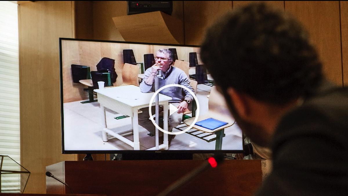 Granados declarando desde la cárcel de Estremera preguntado por César Zafra. (Foto: OKDIARIO)