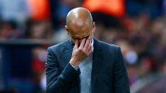 Guardiola sufrió en el Calderón. (AFP)