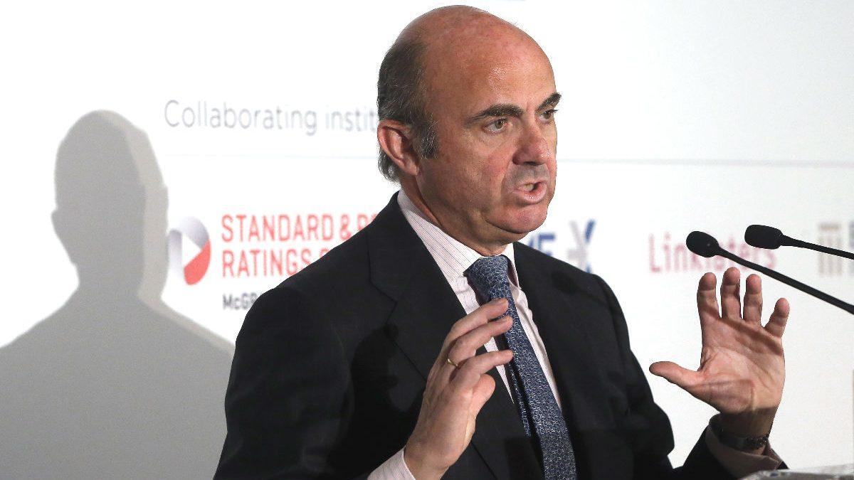 El ministro de Economía y Competitividad en funciones, Luis de Guindos (Foto: Efe)