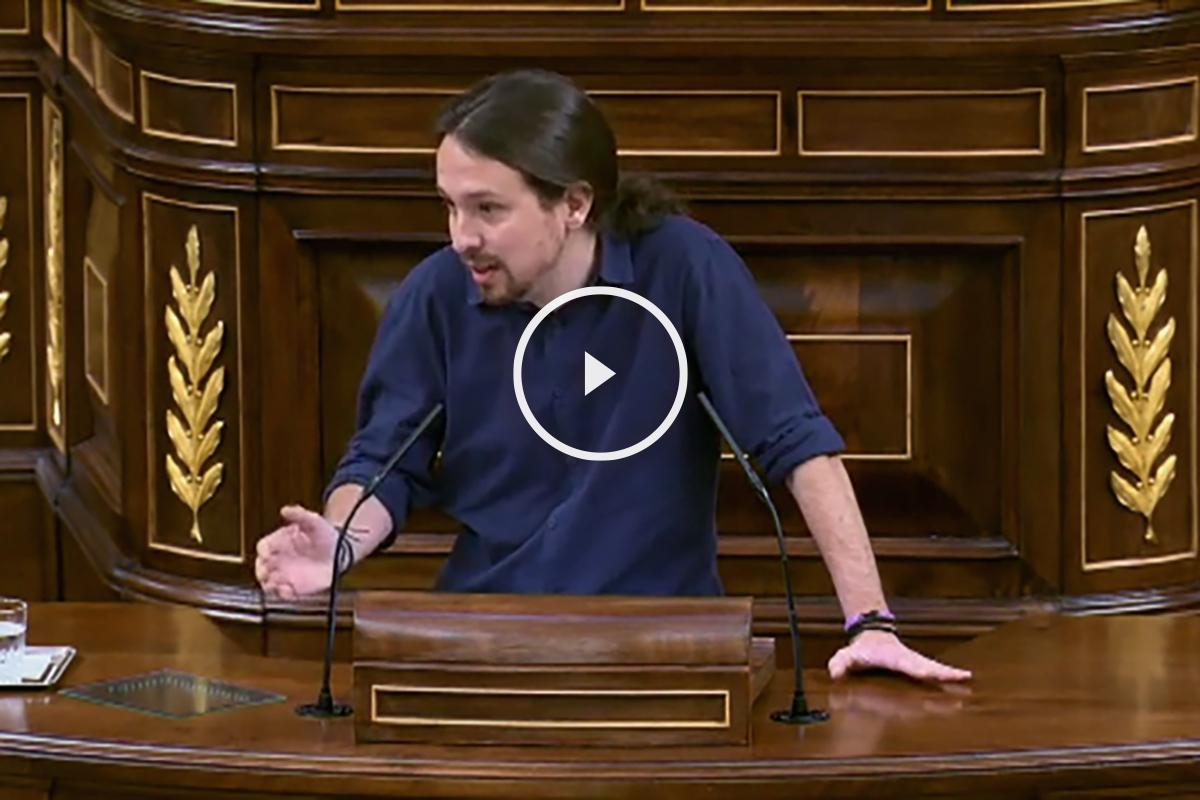 Pablo Iglesias, durante su ultima intervención