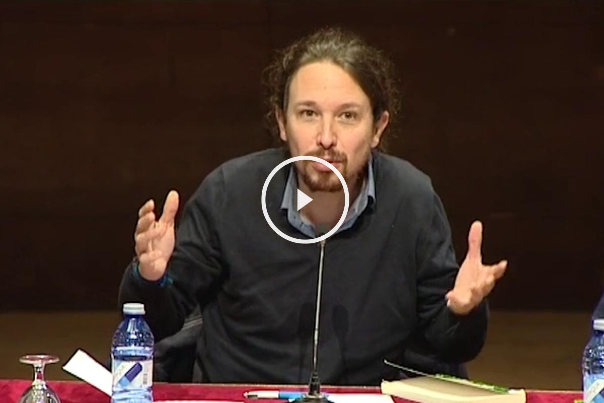 Pablo Iglesias, el jueves en la Universidad Complutense de Madrid