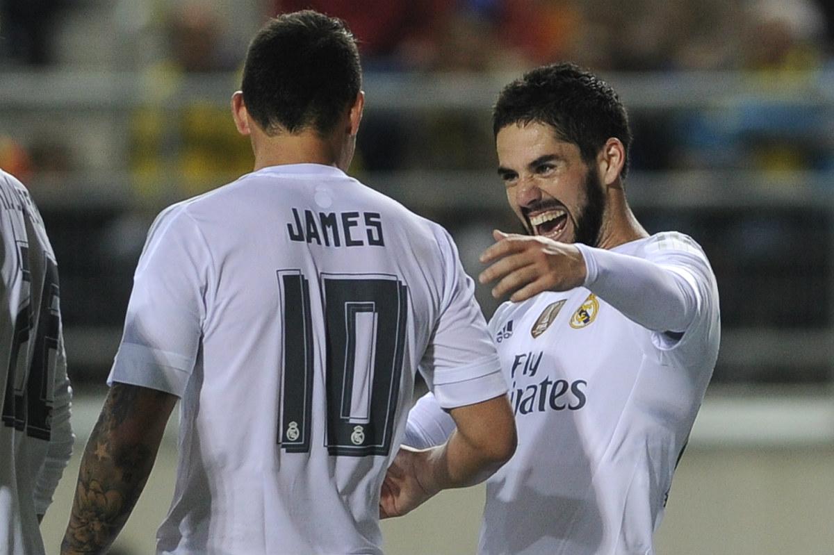 Isco y James. (Foto: AFP)
