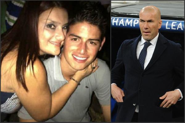 La madre de James ha criticado a Zidane.