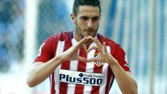 Koke celebra su gol ante el Espanyol. (AFP)