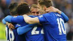 El Leicester ganó al Swansea. (Reuters)