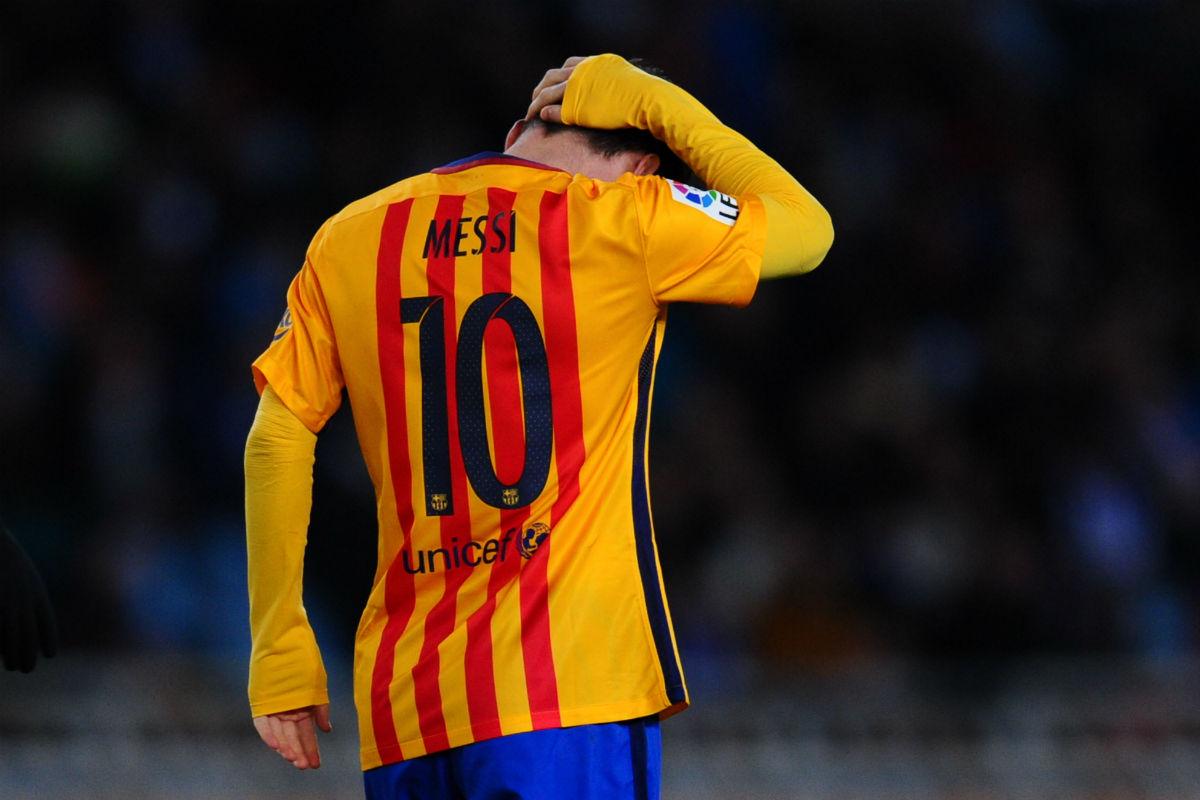 Leo Messi estuvo ausente en Anoeta. (Getty)