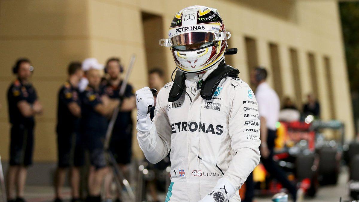 Lewis Hamilton logró la pole en Bahrein (Getty)