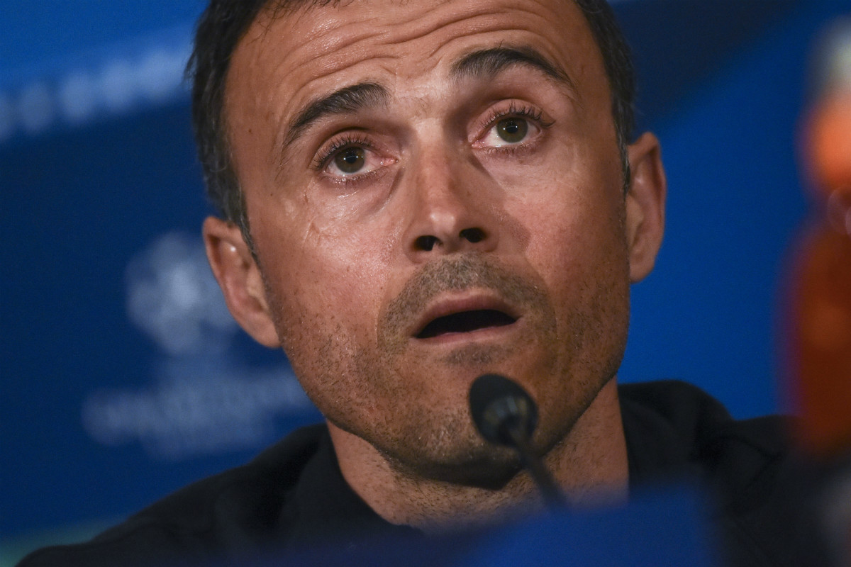 Luis Enrique compareció en rueda de prensa para analizar el choque ante el AtletI. (AFP)