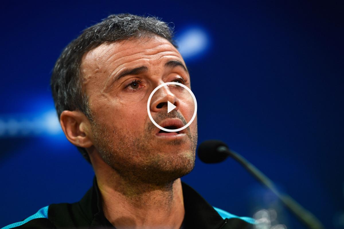 Luis Enrique, en la rueda de prensa previa al Barça-Atleti. (Getty)