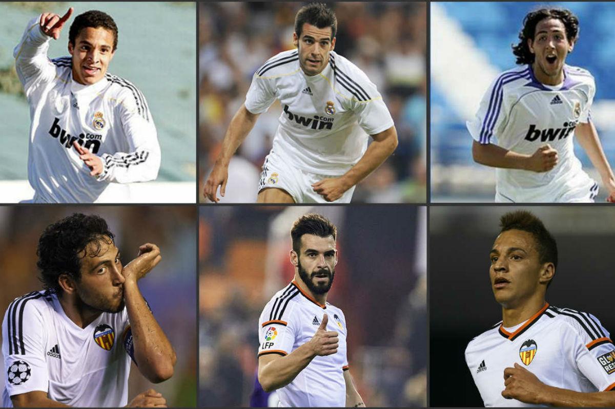 Parejo, Negredo y Rodrigo jugaron en el Real Madrid.