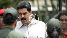 Nicolás Maduro saludando a miembros del Ejército. (Foto: AFP)