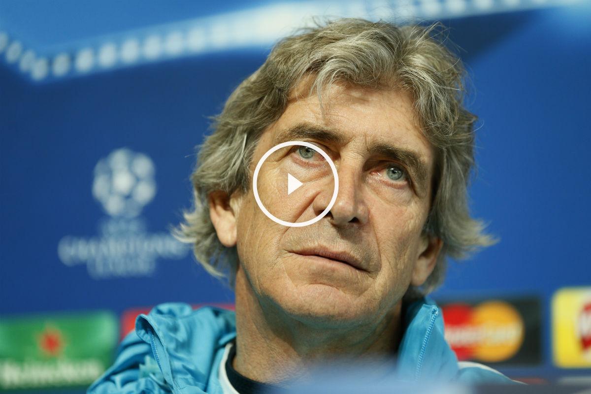 Manuel Pellegrini, en la rueda de prensa previa al partido contra el Real Madrid. (Reuters)