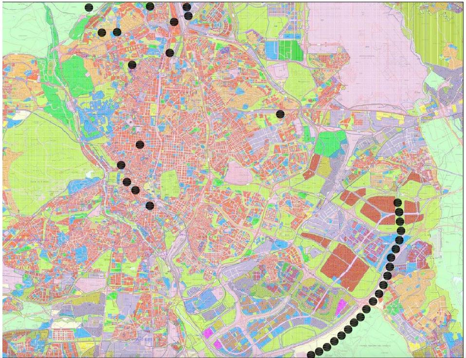 Mapa de los asentamientos ilegales localizados en Madrid. (Clic para ampliar)