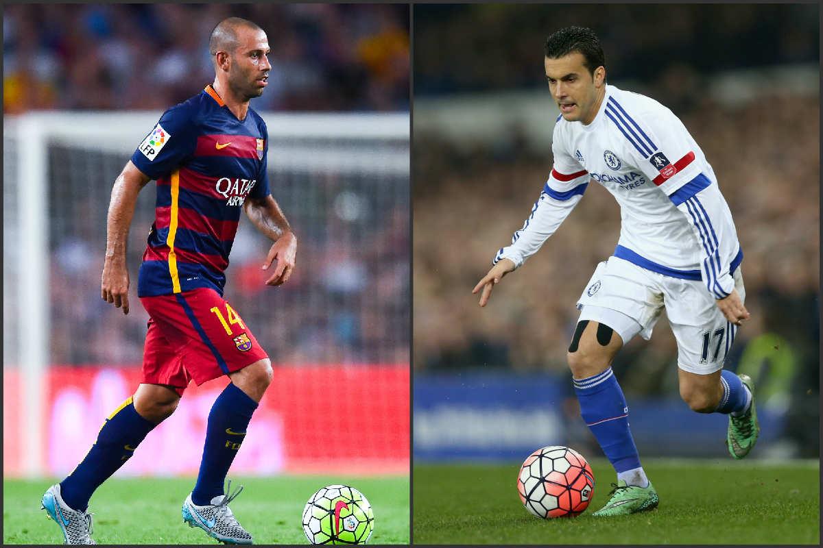 Mascherano y Pedro gustan al Chelsea. (Fotos: Getty)