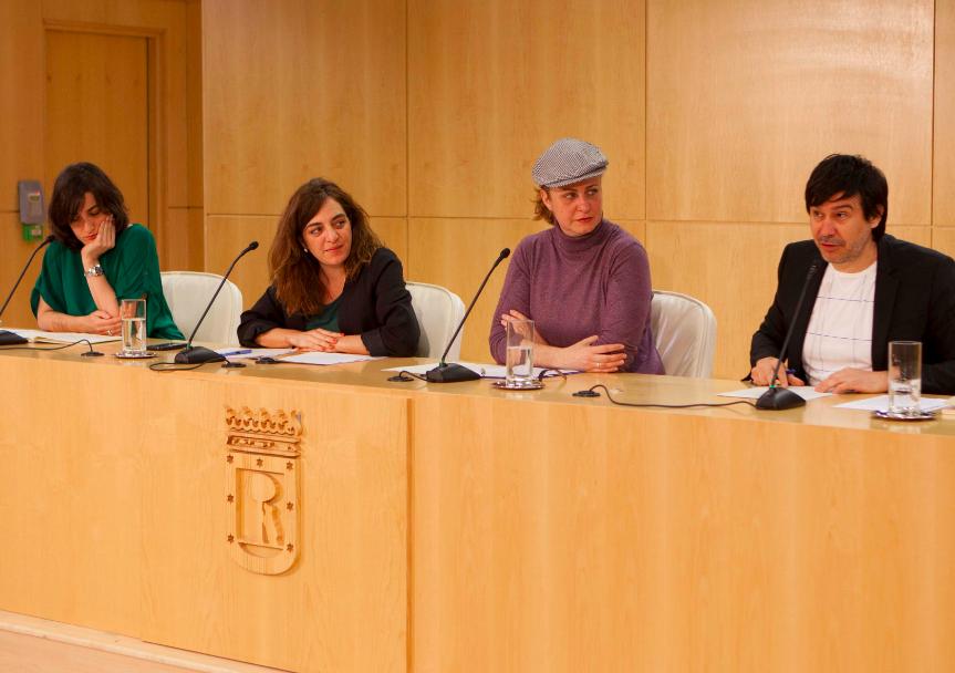 La delegada de cultura Celia Mayer presentando San Isidro 2016. (Foto: Madrid)