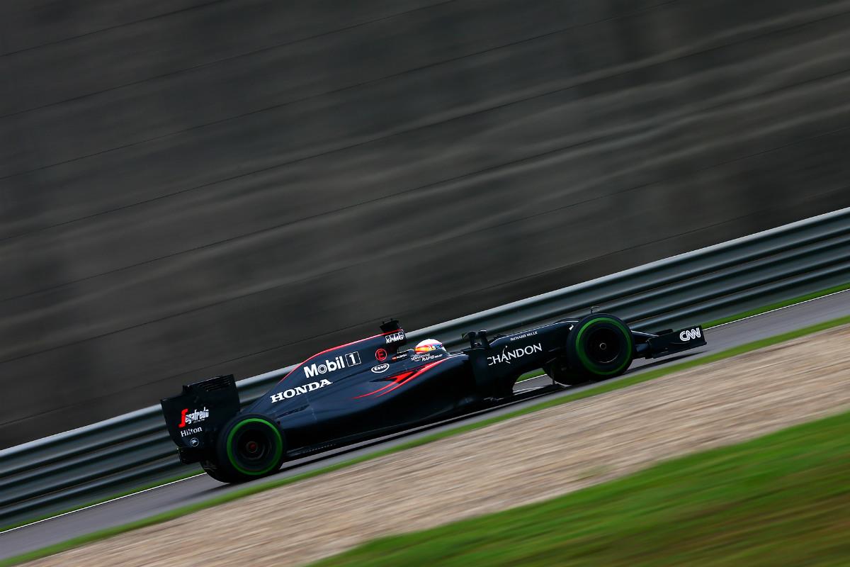 El McLaren-Honda firmó la tercera vuelta más rápida en China. (Getty)