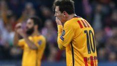 Messi se quedó sin marcar en el Calderón. (AFP)