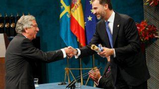 El arquitecto Rafael Moneo recibiendo el Premio Príncipe de Asturias de las Artes en 2012. (Foto: Getty)