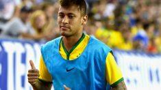 Neymar, en un partido con Brasil. (AFP)