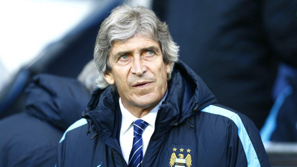 Pellegrini, con rostro serio durante el partido. (Reuters)