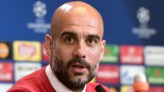 Pep Guardiola, en la previa del Atlético-Bayern