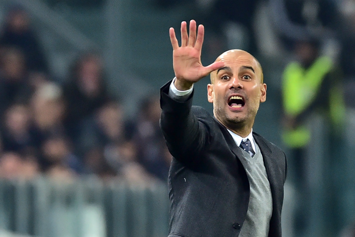 Pep Guardiola durante el Juventus-Bayern de esta temporada. (AFP)